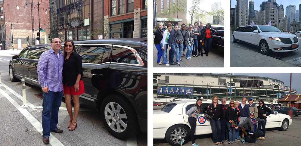 our happy limousine customers in Chicago charters