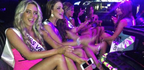 hot bachelorette girls in a limousine